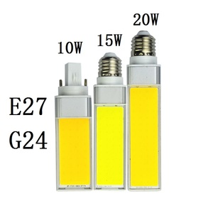 Image 1 - Led lampen 10 W 15 W 20 W E27 G24 Maïs Lamp SMD COB wit Warm Wit Spotlight 180 Graden AC110V 220 V Horizontale Plug Light Lampada