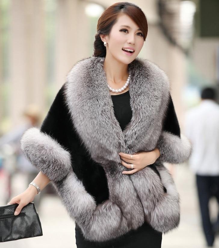 Popular Fox Fur Shawl-Buy Cheap Fox Fur Shawl lots from China Fox ...