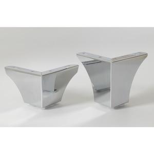 Image 3 - 4 sztuk/partia Chrome europejskiej zwięzłe meble do kąpieli kawy stołek Bar Sofa noga od krzesła nogi nogi