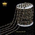 Бронзовый Тон Провода Завернутый Черный Гематит Гладкой Круглый Бисера Цепи 4 мм 6 мм Четки Цепи Ожерелье Ювелирные Изделия Поиск HX047