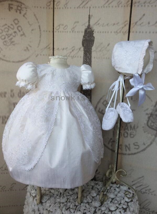 2016 Baby Girls Boys Lace Blessing Dresses With Bonnet Heirloom Dedication Gown Christening gowns vestido de baptizado