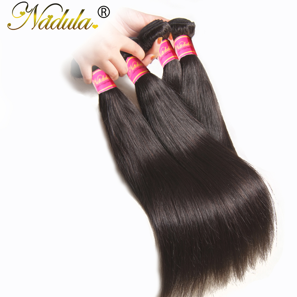 Image 4 - Nadula Hair 3Bundles/4 Bundles Brazilian Straight Hair Bundles 100g/pc Remy Human Hair Extensions Natural Color Hair Weave-in Hair Weaves from Hair Extensions & Wigs