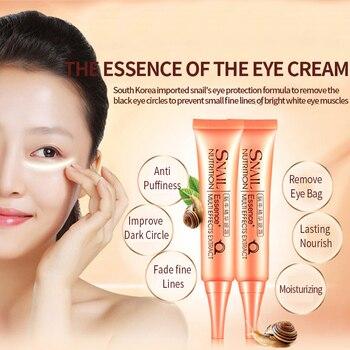 Crema para Ojos con esencia de Caracol cuidado facial ojos cara Lifting firme Anti hinchazón círculo oscuro Anti arrugas antiedad humectante 2 uds