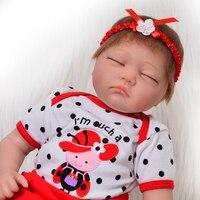 Newborn bebes Reborn menina 22inch 55cm silicone reborn baby dolls toys like real babies born dolls toys gift