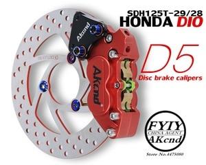 Image 1 - Мотоцикл модификация CNC алюминиевый сплав 40 мм тормозной суппорт Кронштейн для Honda DIO RC125 SCR110
