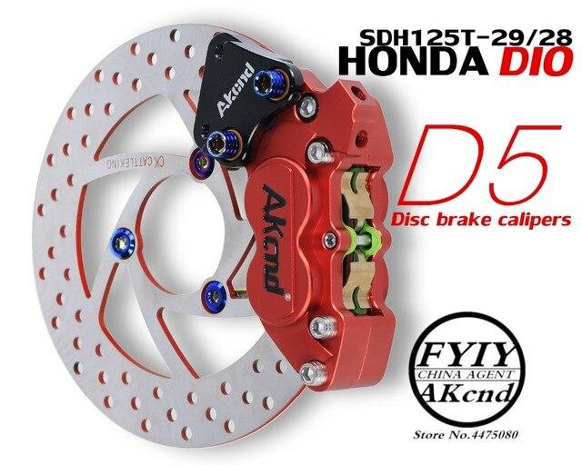 Мотоцикл модификация CNC алюминиевый сплав 40 мм тормозной суппорт Кронштейн для Honda DIO RC125 SCR110