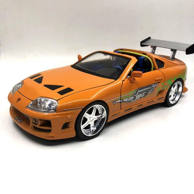 jada 1 18 fast furious 8 f8 brian 39 s toyota supra diecast model racing car new in box in. Black Bedroom Furniture Sets. Home Design Ideas