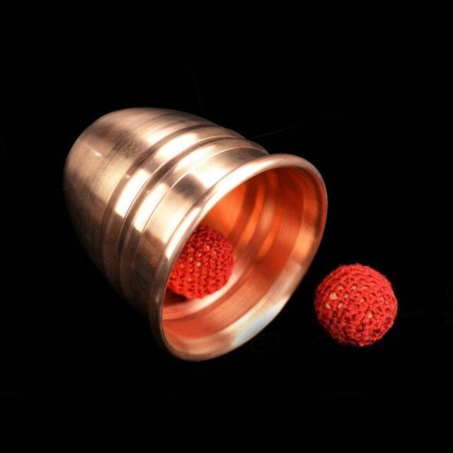 super copper Chop Cup (diamter 7cm) - Magic Tricks Cup and Balls Close Up Magic Props High quality magnetic magic trick 81301