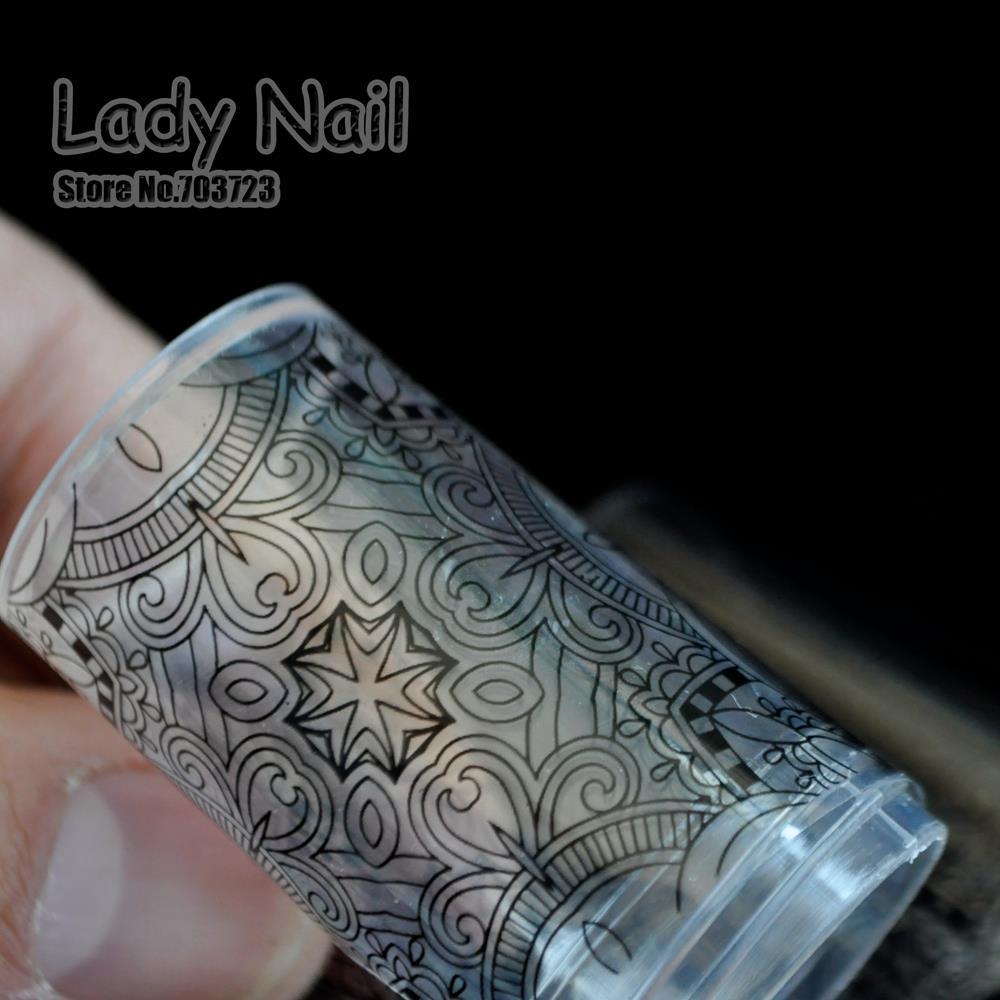 100 Cm 4 Hitam Renda Kertas Potong Style Transfer Foil Nail Alat Granite Ampamp Keramik 100cm Art Stiker Kuku Lem Polish Diy Decals Manicure 215