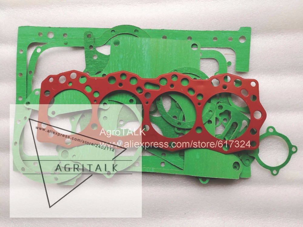 China tractor like JINMA 804 with engine R4105IT, the cylinder head gasket/gaskets kit including the head gasket, part number: shandong weituo tractor parts the distributor of ts 240d tractor the small wheeled tractor with single cylinder engine