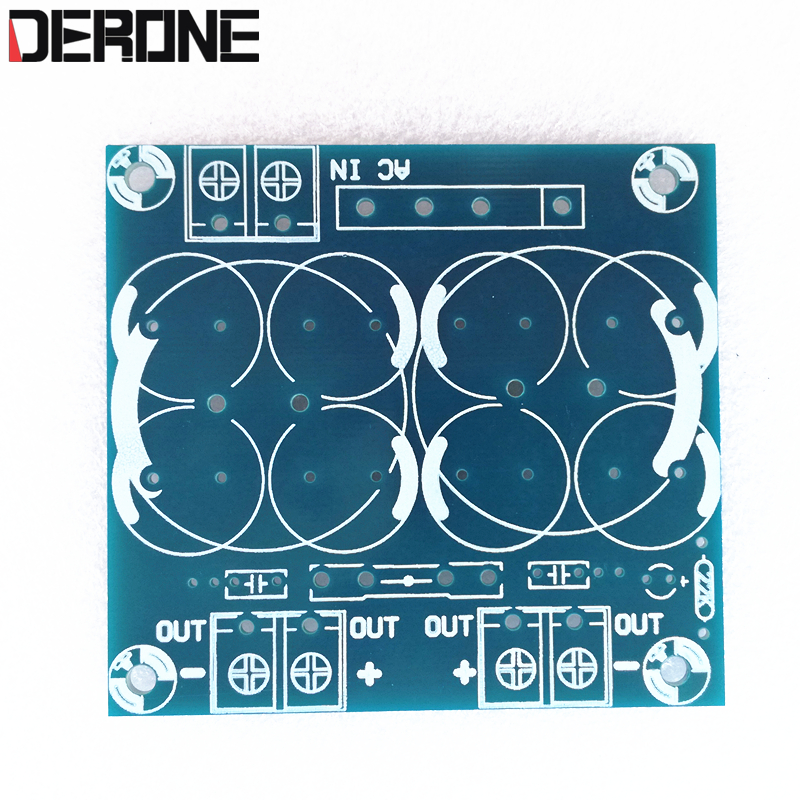 2 piece Rectifier filter PCB for power amplifier board Rectifier board 2 way parallel output audio diy