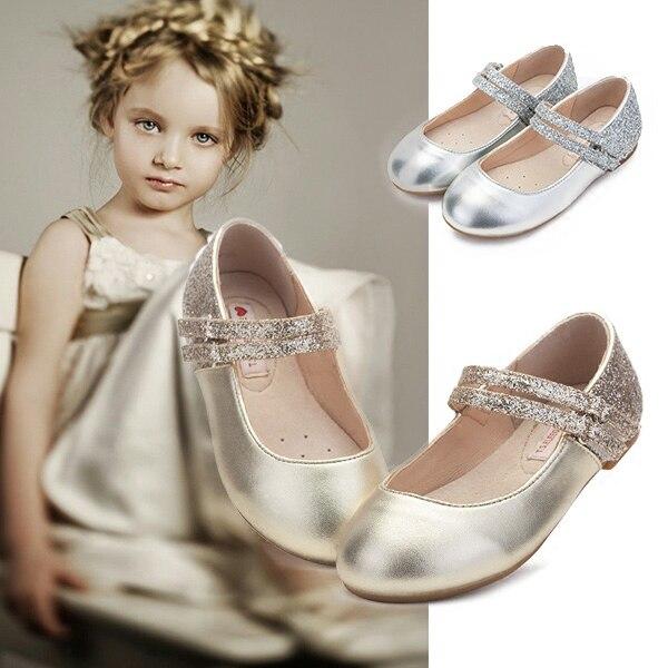 2018 Summer Simple Design Girls PU Leather Beautiful Elegant Shoes Princess Children Shoes Soft Sole Flat Princess Sandals цена 2017