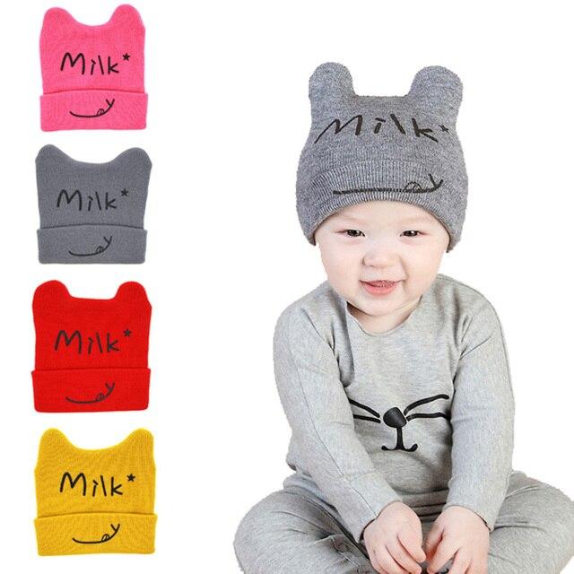Winter Autumn Crochet Hat Girl Boy Cap Cotton Beanies Star Knitted ...