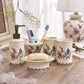 Креативный керамический набор для мытья и полоскания ванной комнаты из американской керамики из пяти предметов товары для мытья и полоскан...