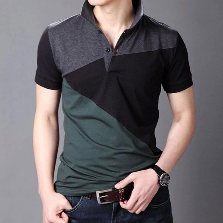 Casual Fashion Design Brand 2019 New Summer Polo Shirts Short Sleeve Men Striped Color Plus Size M-3XL 4XL 5XL 6XL