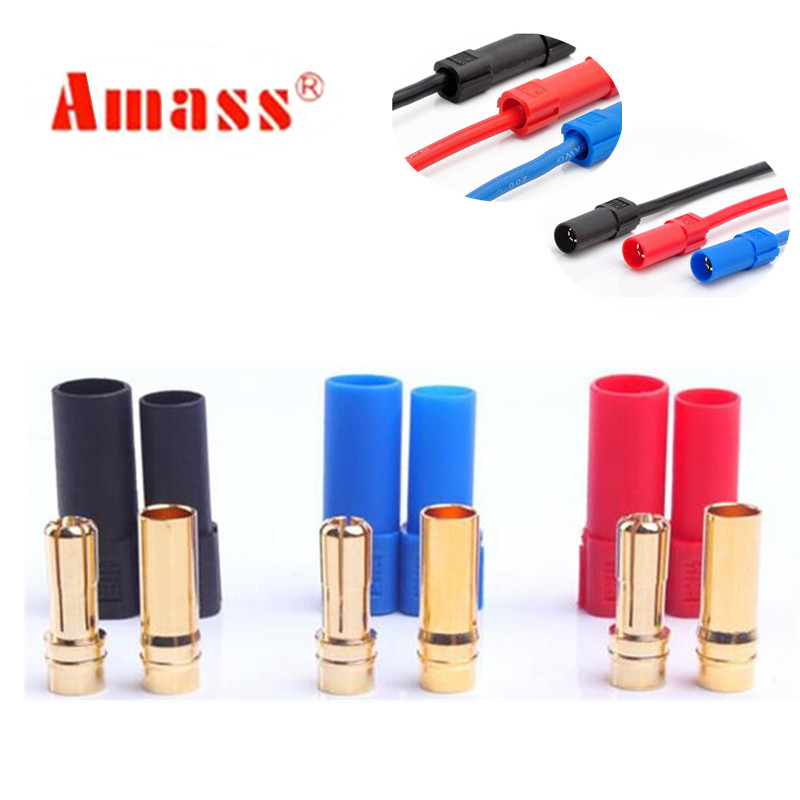 1 pair XT150 AMASS Connector Adapter 6mm Male/Female Plug High Rated Amps For RC LiPo Battery 20%Off(China)