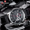 2017 del negocio del mens relojes de lujo superior marca longbo reloj de hombre deportivo de cuero reloj de cuarzo de los hombres reloj de cuarzo resistente al agua macho 80213