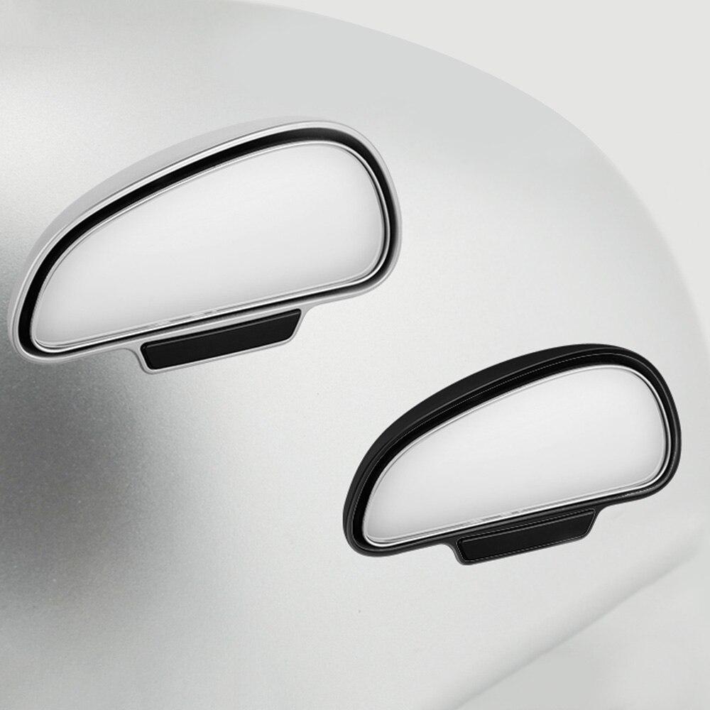 1 par Espelhos de Carro Car Rear View Espelho Lateral Grande Angular Espelho Retrovisor Do Carro Universal espelho de Ponto Cego Espelho Quadrado de 2 cores