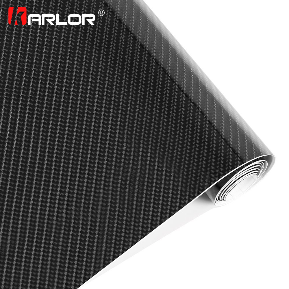 Car Styling 200mmX1520mm 5D Carbon Fiber Vinyl Film high glossy warp Car Stickers Accessories Waterproof Retail packaging Toyota Land Cruiser