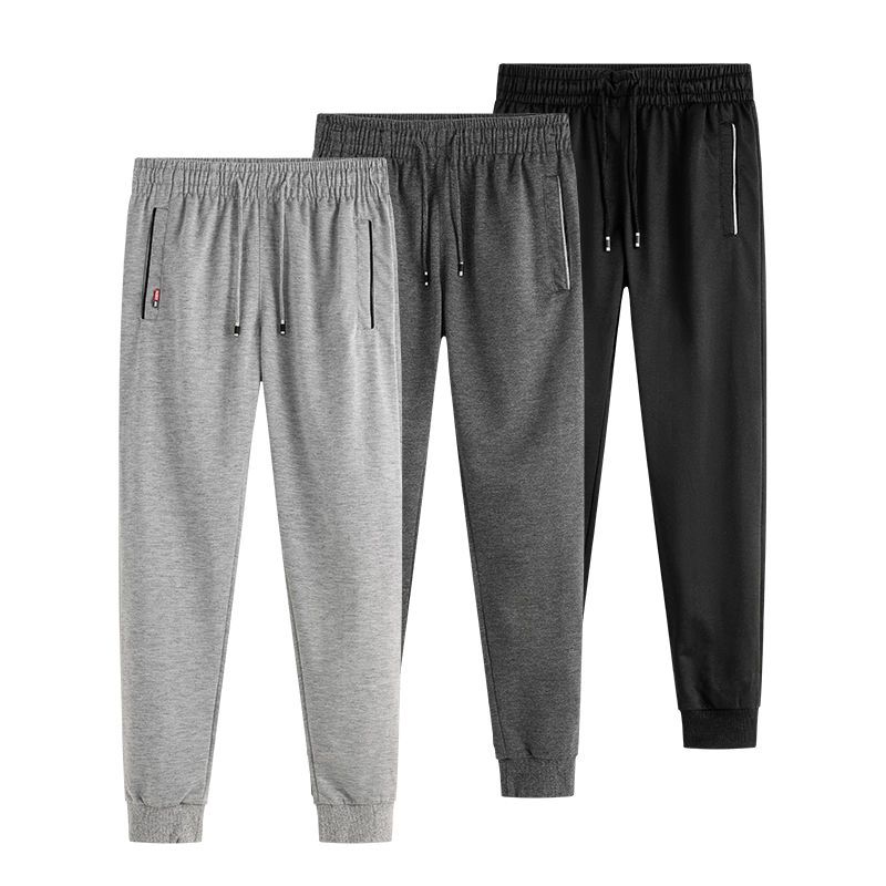 Men pants summer loose thin trousers keep cool in hot days causal male joggers size M to 5XL