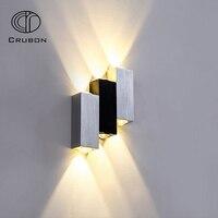 Crubon Modern 6W Led Wall Lamp Colorful Hotel Sconce Indoor Stair Light Fixture Bedroom Bedside Livingroom Hallway Loft Lighting