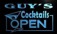 X0253 Tm Guy S Cocktails Open Bar Custom Personalized Name Neon Sign Wholesale Dropshipping