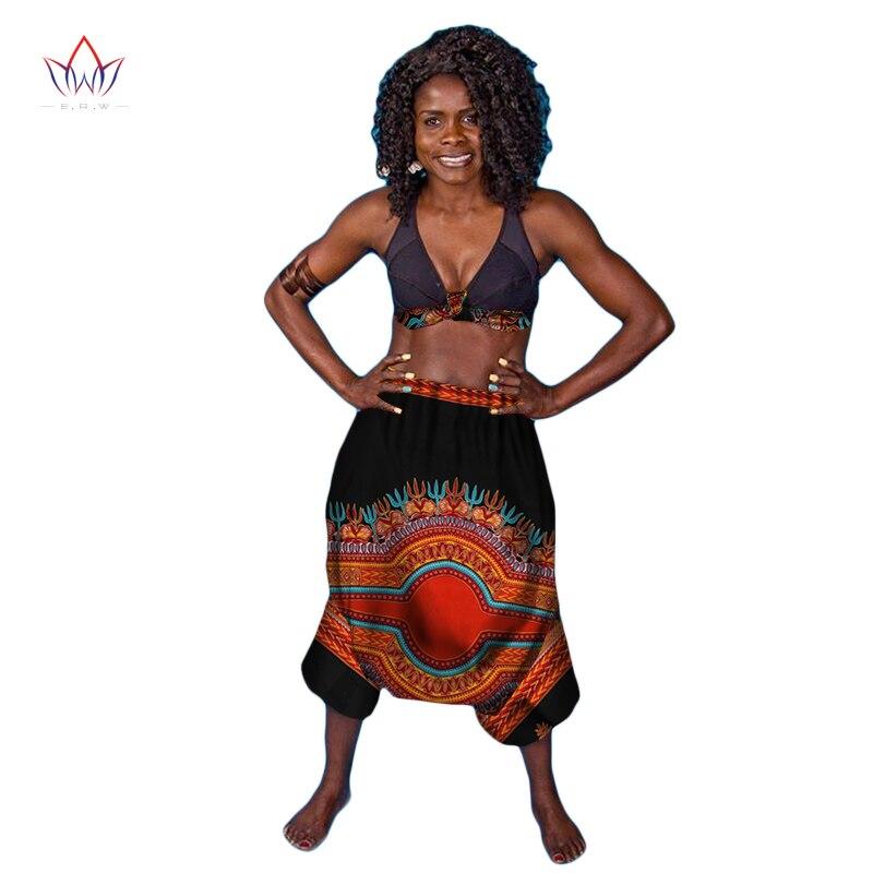 New Look African Traditional Clothing Brand Baggy Dance Pants Dashiki Pants Women Harem Pants Women Trousers 6XL Plus Size WY832 plus size striped harem pants