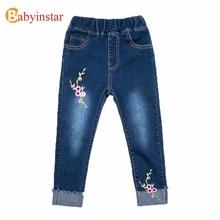 Babyinstar/Новинка года; джинсы для девочек; весенние джинсы; одежда для детей; детские брюки; повседневные брюки; джинсы для девочек; одежда
