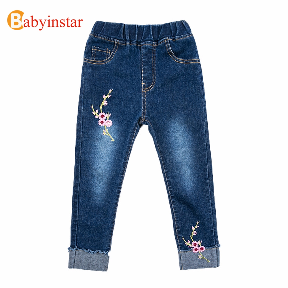 Deskundig Babyinstar 2019 Meisjes Jeans Lente Zachte Denim Broek Peuter Kinderen Casual Broek Borduren Toldder Kleding Meisjes Kleding Bespaar 50-70%