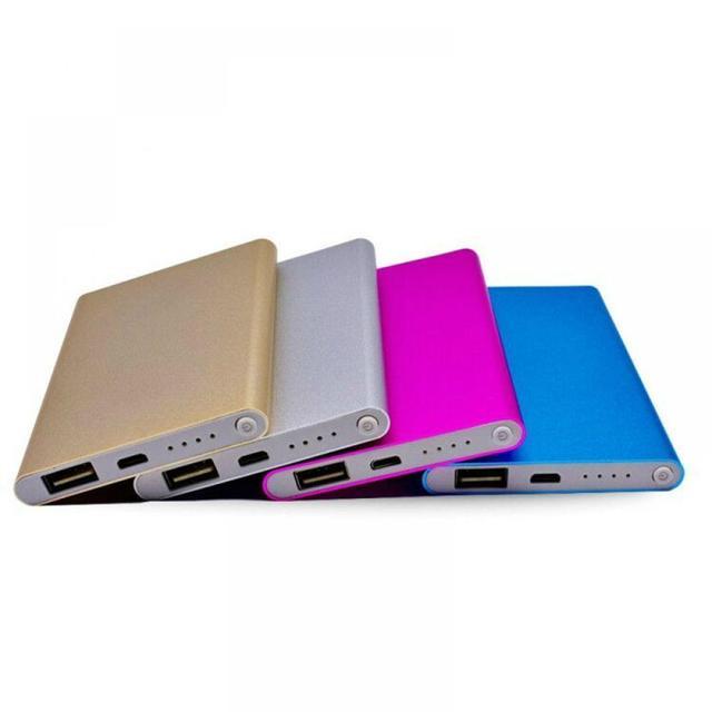 12000 MAh cargador de Banco de energía USB fundas de moda teléfonos de Color ultrafino celular para batería cargador portátil inteligente batería