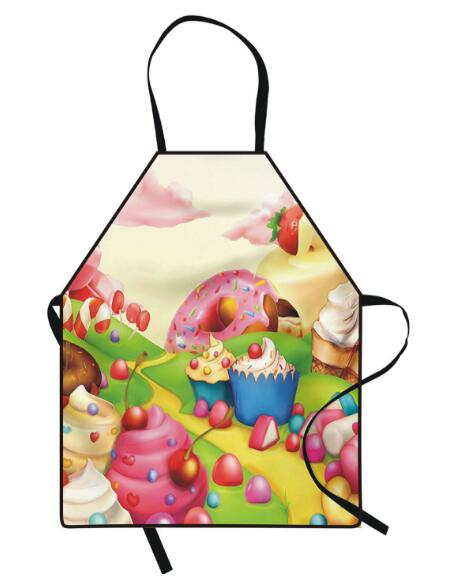 Freeshipping 2019 Creative aprons  printed woman and Men kitchen apron Cake shop apron household cleaning accessories