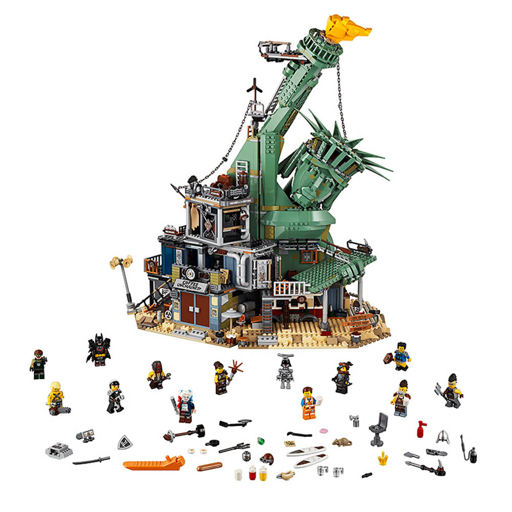 Movie 2 70840 Collapse Statue of LiberBuilding Blocks Toys for Children Compatible with Legoingly Friends Series Best Gifts