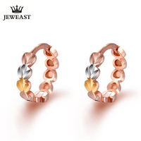 18K Pure Gold Earring Real AU 750 Solid Gold Earrings Nice Beautiful Heart Upscale Trendy Classic Fine Jewelry Hot Sell New 2018