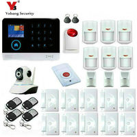 WIFI GSM Touch KeyPad Wireless Home House Alarm System Intruder Burglar Alarm System Kits With Pet
