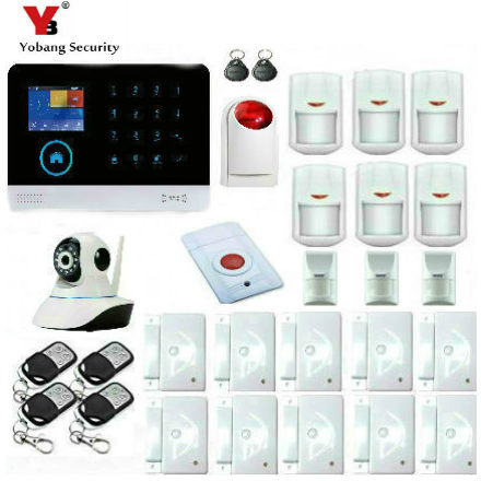 YobangSecurity WIFI GSM Touch KeyPad Wireless Home Alarm System Intruder Burglar Alarm System With Pet Friendly Immune Detector yobangsecurity wireless wifi gsm gprs rfid home security alarm system smart home automation system pet friendly immune detector