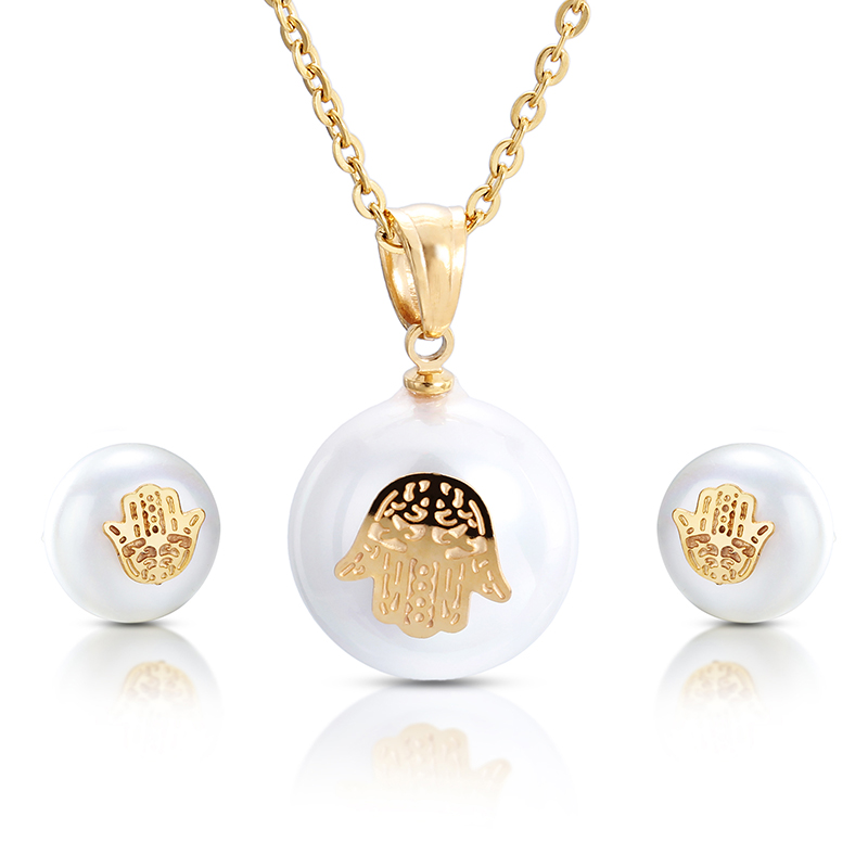 Wholesale Retail! Fashion Jewelry Sets Stainless Steel Colorful Neklace & Earrings For Women & Girl, Lowest Price Best Quality