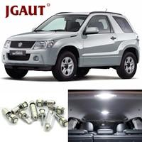 JGAUT Interior Package Kit For 2006 2013 Suzuki Grand Vitara White Car Lamp LED Light Bulbs