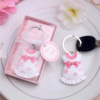baby shower favor gift and giveaways for guests -- Baby Keychain birthday wedding party baptism gift present souvenir 5pcs/lot