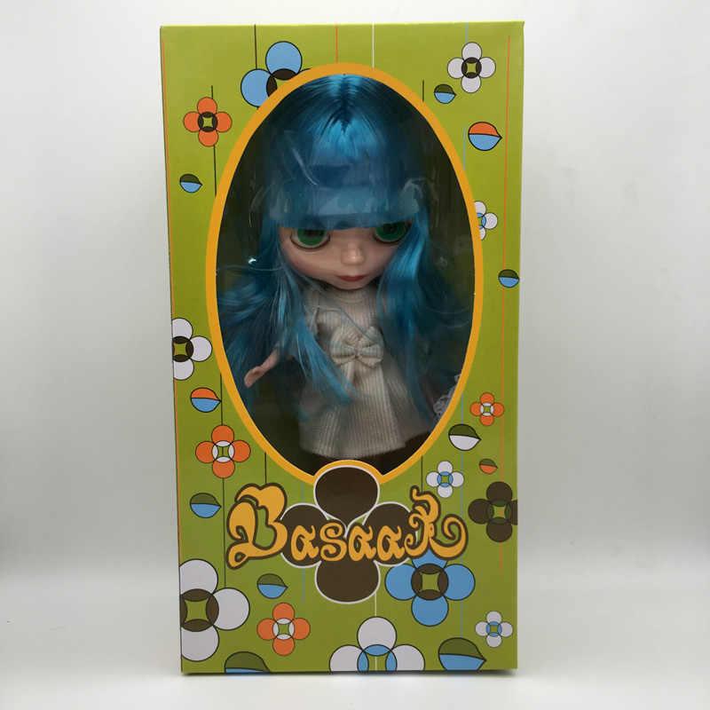 Frete Grátis barato com caixa de cor DIY Blyth boneca de presente de aniversário para as meninas 4 cor olhos grandes bonecos com belas cabelo bonito brinquedo