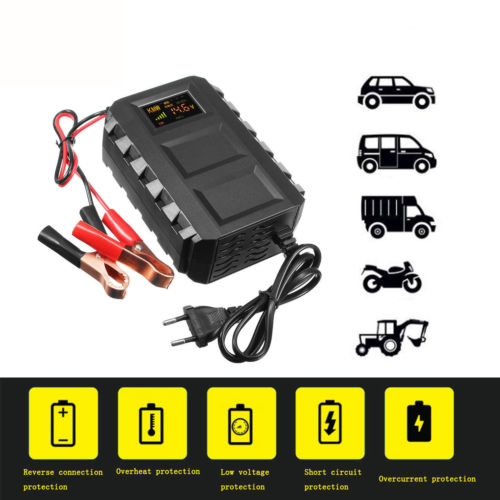 Lead Acid Car Battery Charger 20A Motorcycle Truck 12V Automobile Smart Battery Charger LED Intelligent New