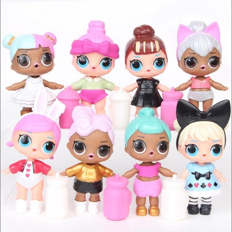 8 unids / lote LoL Desembalaje Muñecas de alta calidad Lol Dolls - Muñecas y accesorios - foto 1
