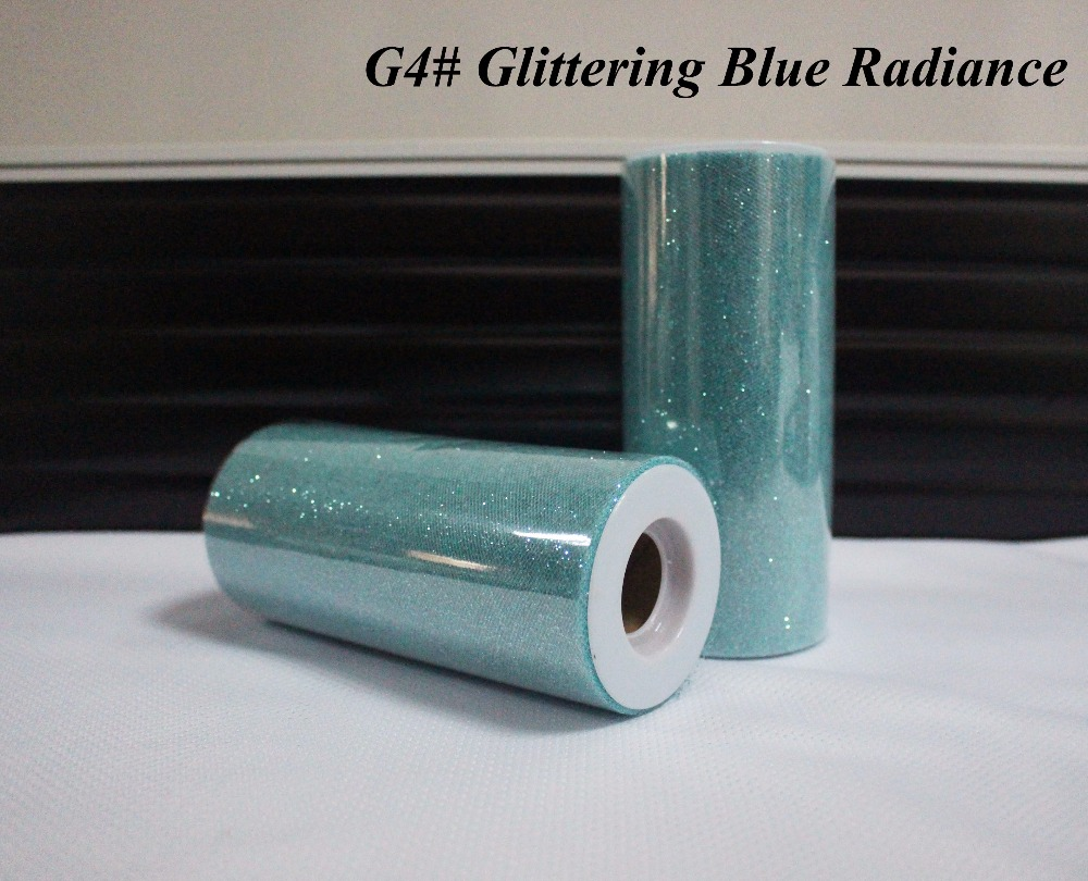 / Csillogó kék sugárzás szín 25yard tüll - Ünnepi és party kellékek
