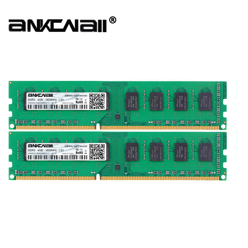 DIMM DDR3 1333/1600MHZ 4GB PC3-10600/12800 For Intel Desktop Memory 1