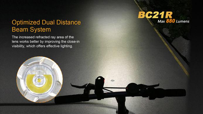 Image 4 - Fenix BC21R Cree XM L2 (T6) bike light 880 lumens Build in ARB L2 2300 battery Micro USB-in LED Flashlights from Lights & Lighting