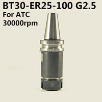 1 pcs BT30 without keyway G2.5 speed COLLET CHUCK TOOLHOLDER NBT30 ER25UM 100 L