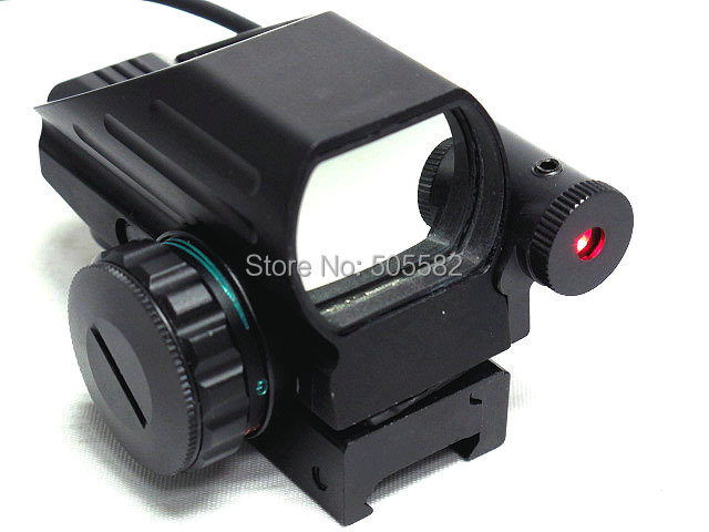 Tactical 1x22x33 Holographic Reflex Red and Green Dot Laser Scope 4 Reticle Sight for Airsoft Standard Weaver Rail