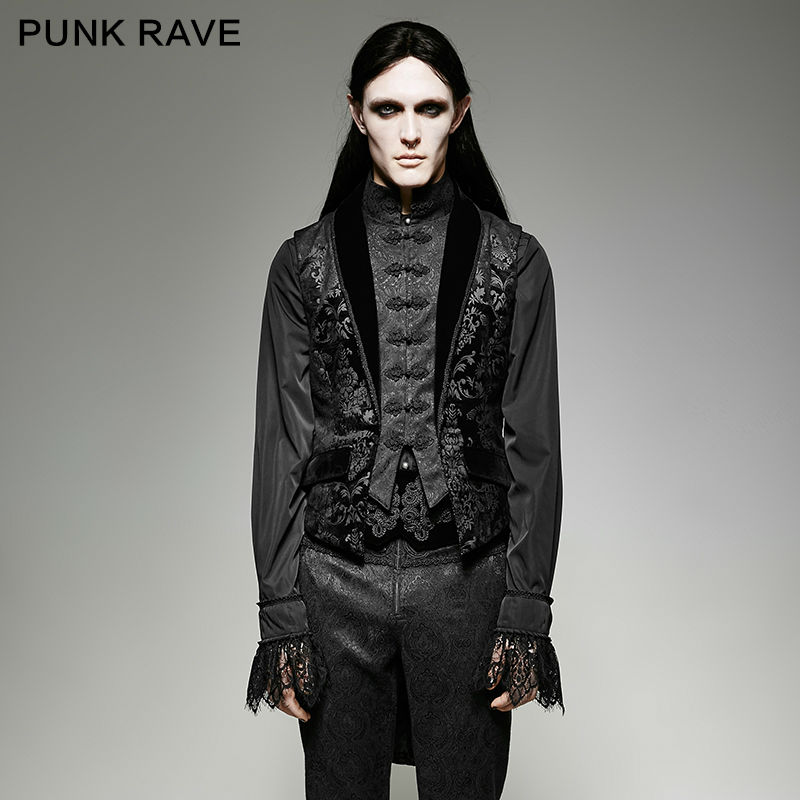 726611d6 New Fashion Punk Rave Men Victorian Steampunk Vampire Gothic Top Aristocrat  Elegant Vest Jacket Y696-in Vests & Waistcoats from Men's Clothing on ...