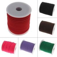 20Yard Fahion Cord Jewelry 5mm Milk Silk Macrame Cord String Tassel Thread Cord For DIY Necklace