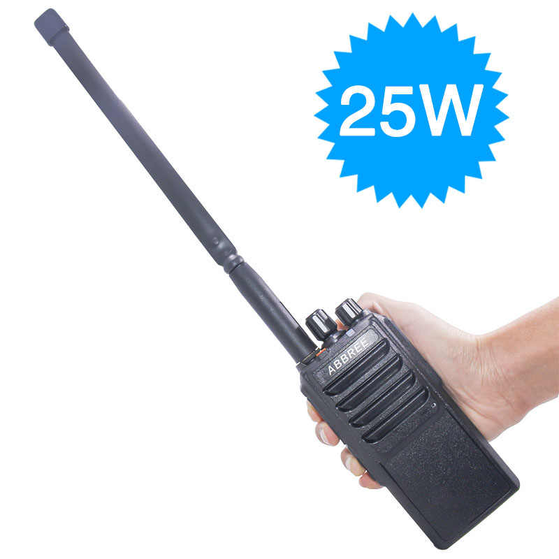 ABBREE AR-25W 25Watts Powerful walkie talkie UHF 400-480MHz 10W 10-20Km Long Range Two Way Radio for hunting + Tactical Antenna
