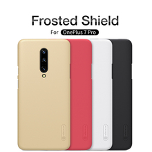For OnePlus 7 Pro Original NILLKIN Matte Frosted Shield Back Cover For One Plus 7 Pro Case with phone holder For OnePlus 7 pro стоимость